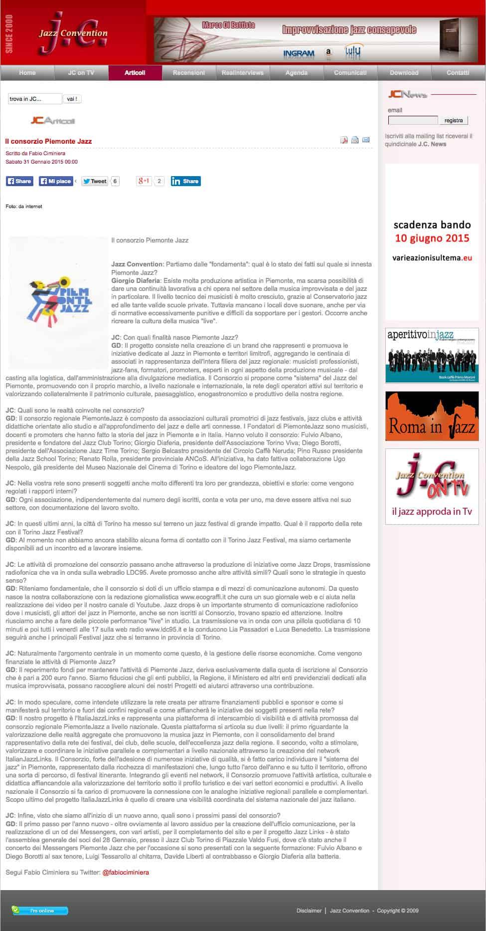 JazzConvention-Il-Consorzio-Piemonte-Jazz-Intervista-a-Giorgio-Diaferia